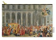 The Departure Of Alois Thomas Von Harrach, Viceroy Of Naples 1669-1742 From The Palazzo Reale Di Carry-all Pouch
