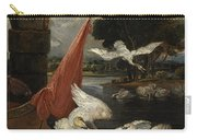 The Descent Of The Swan, Illustration Carry-all Pouch
