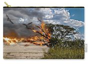 The Destruction Of Our Land Carry-all Pouch by Ronel Broderick
