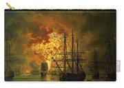 The Destruction Of The Turkish Fleet At The Bay Of Chesma Carry-all Pouch by Jacob Philippe Hackert