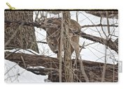 The Doe And The Snow - Odocoileus Virginianus Carry-all Pouch