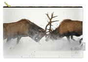 The Duel Of Fighting Elk Carry-all Pouch