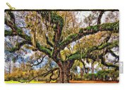 The Dueling Oak Painted Carry-all Pouch