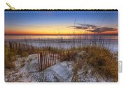 The Dunes At Sunset Carry-all Pouch by Debra and Dave Vanderlaan