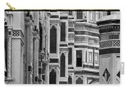 The Duomo Black And White Carry-all Pouch