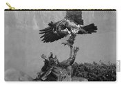 The Eagle And The Indian In Black And White Carry-all Pouch