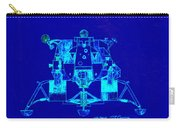 The Eagle Apollo Lunar Module In Blue Carry-all Pouch