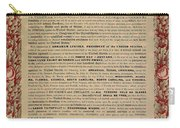The Emancipation Proclamation Carry-all Pouch by American School