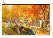 The Embassay Of Autumn - Palette Knife Oil Painting On Canvas By Leonid Afremov Carry-all Pouch