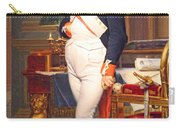 The Emperor Napoleon In His Study At The Tuileries By Jacques Louis David Carry-all Pouch
