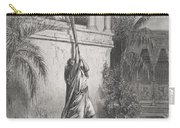 The Escape Of David Through The Window Carry-all Pouch by Gustave Dore