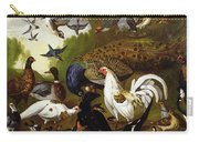 The Fable Of The Raven With A Peacock, Cockerel, Woodpecker, Jay, Woodcock, And Magpie Carry-all Pouch