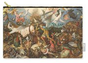 The Fall Of The Rebel Angels, 1562 Oil On Panel Carry-all Pouch