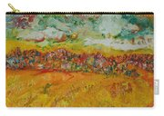 The Farmland Oil On Canvas Carry-all Pouch
