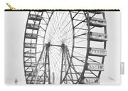 The Ferris Wheel At The Worlds Columbian Exposition Of 1893 In Chicago Bw Photo Carry-all Pouch