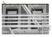 The Fire Escape In Black And White Carry-all Pouch