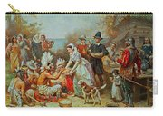The First Thanksgiving Carry-all Pouch by Jean Leon Gerome Ferris