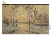 The Fishermens Chapel Under Snow Carry-all Pouch