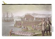 The Fishing Industry In Newfoundland Carry-all Pouch by G Bramati