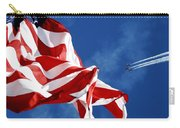 The Flag And The Blue Angels Carry-all Pouch
