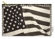 The Flag Bw Carry-all Pouch