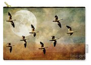 The Flight Of The Snow Geese Carry-all Pouch by Lois Bryan