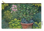 The Flower Pot Cat Carry-all Pouch by Ditz