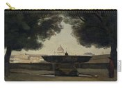 The Fountain Of The French Academy In Rome, 1826-27 Oil On Canvas Carry-all Pouch