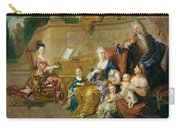 The Franqueville Family, 1711 Oil On Canvas Carry-all Pouch