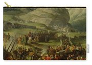 The French Army Travelling Over The St. Bernard Pass At Bourg St. Pierre, 20th May 1800, 1806 Oil Carry-all Pouch
