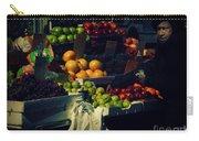 The Fruit Seller - New York City Street Scene Carry-all Pouch