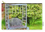 The Garden Bench In Spring  Carry-all Pouch