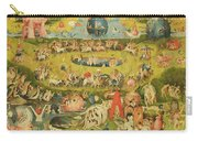 The Garden Of Earthly Delights Allegory Of Luxury, Central Panel Of Triptych, C.1500 Oil On Panel Carry-all Pouch