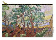 The Garden Of St Pauls Hospital At St. Remy Carry-all Pouch by Vincent Van Gogh