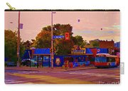 The Georgetown Sports Pub Soccer Bar Bank St The Glebe Paintings Of Ottawa Carole Spandau Artist Carry-all Pouch