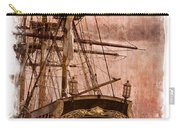 The Gleaming Hull Of The Hms Bounty Carry-all Pouch by Debra and Dave Vanderlaan