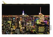 The Glow Of The New York City Skyline Carry-all Pouch