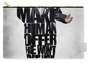 The Godfather Inspired Don Vito Corleone Typography Artwork Carry-all Pouch by Ayse Deniz