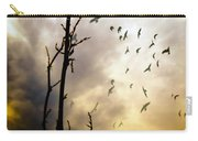 The Gods Laugh When The Winter Crows Fly Carry-all Pouch by Bob Orsillo