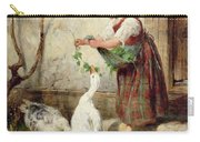 The Goose Girl Carry-all Pouch by Antonio Montemezzano