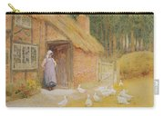 The Goose Girl Carry-all Pouch by Arthur Claude Strachan