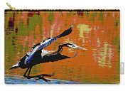 The Great Blue Heron Jumps To Flight Carry-all Pouch