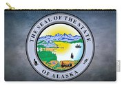 The Great Seal Of The State Of Alaska  Carry-all Pouch