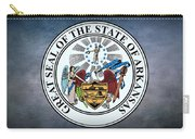 The Great Seal Of The State Of Arkansas Carry-all Pouch