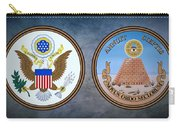 The Great Seal Of The United States Obverse And Reverse Carry-all Pouch