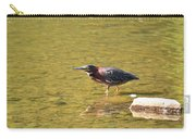 The Green Heron Eyes His Prey Carry-all Pouch