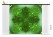 The Green Jewel Of Nature Mandala Carry-all Pouch