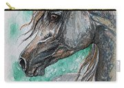 The Grey Arabian Horse 13 Carry-all Pouch