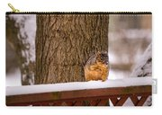The Grey Squirrel George In Winter Carry-all Pouch