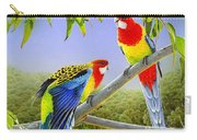 The Happy Couple - Eastern Rosellas  Carry-all Pouch
